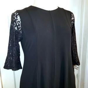 Black with lace dress 2X Always Indigo